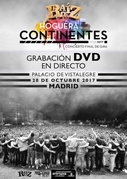 La Raíz grabarán DVD en directo el próximo 28 de octubre en Madrid