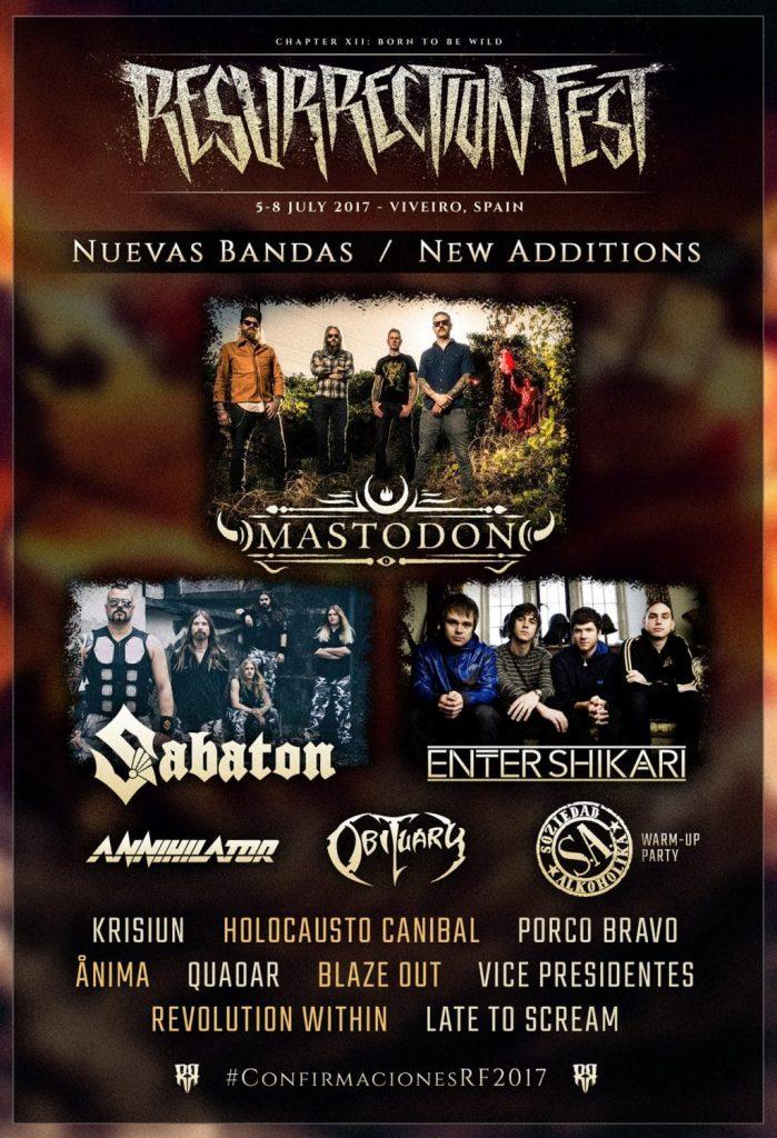 Mastodon, Sabaton y Enter Shikari entre las nuevas confirmaciones del Resurrection Fest
