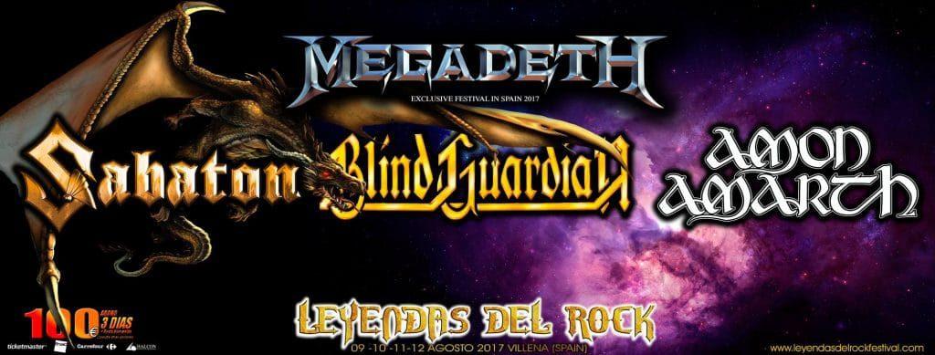 Sabaton y Amon Amarth confirmados para el XII Leyendas del Rock Festival