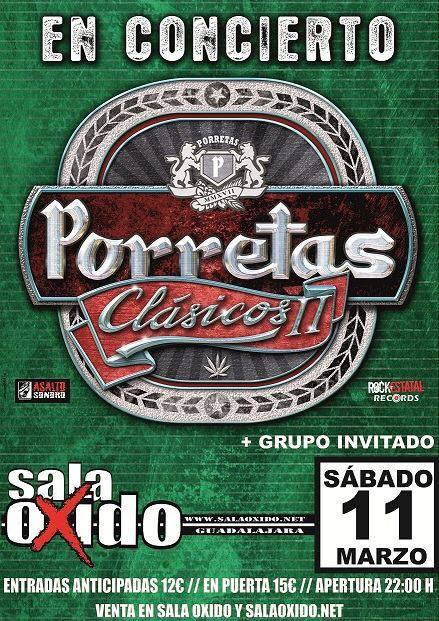 Primer concierto confirmado de Porretas presentando su próximo álbum