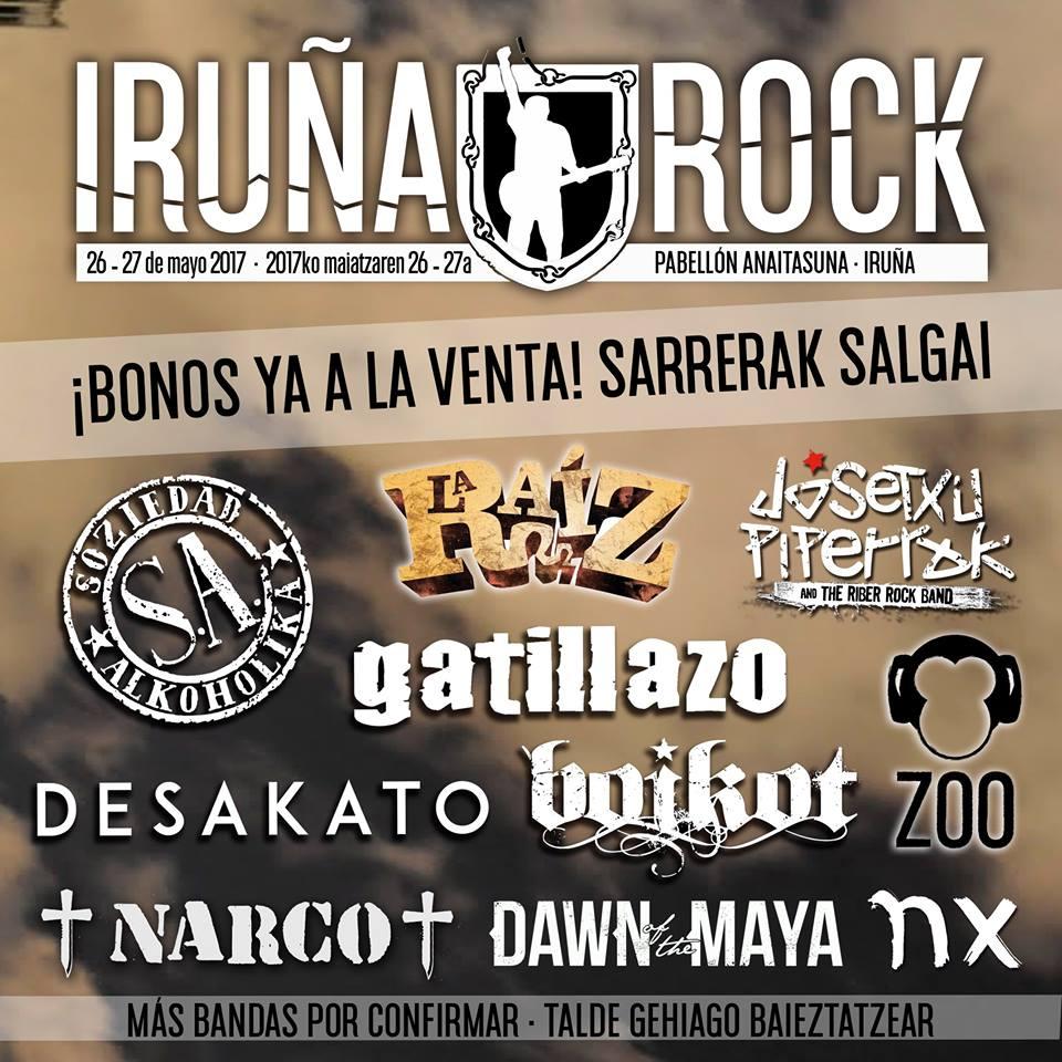 Nueva tanda de confirmaciones para el festival Iruña Rock 2017
