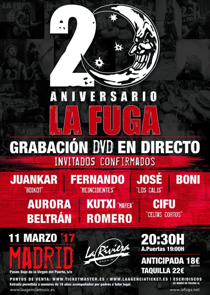 Últimas entradas disponibles para el concierto 20 aniversario de La Fuga en Madrid