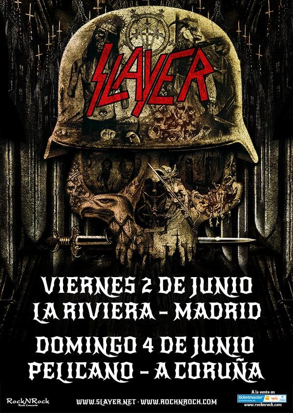 Slayer visitarán Madrid y A Coruña en el mes de junio