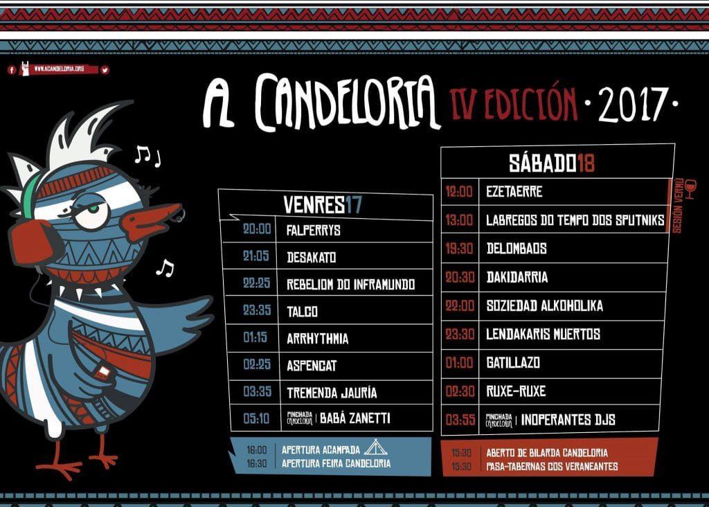Horarios del A Candeloria Festival 2017 de Lugo