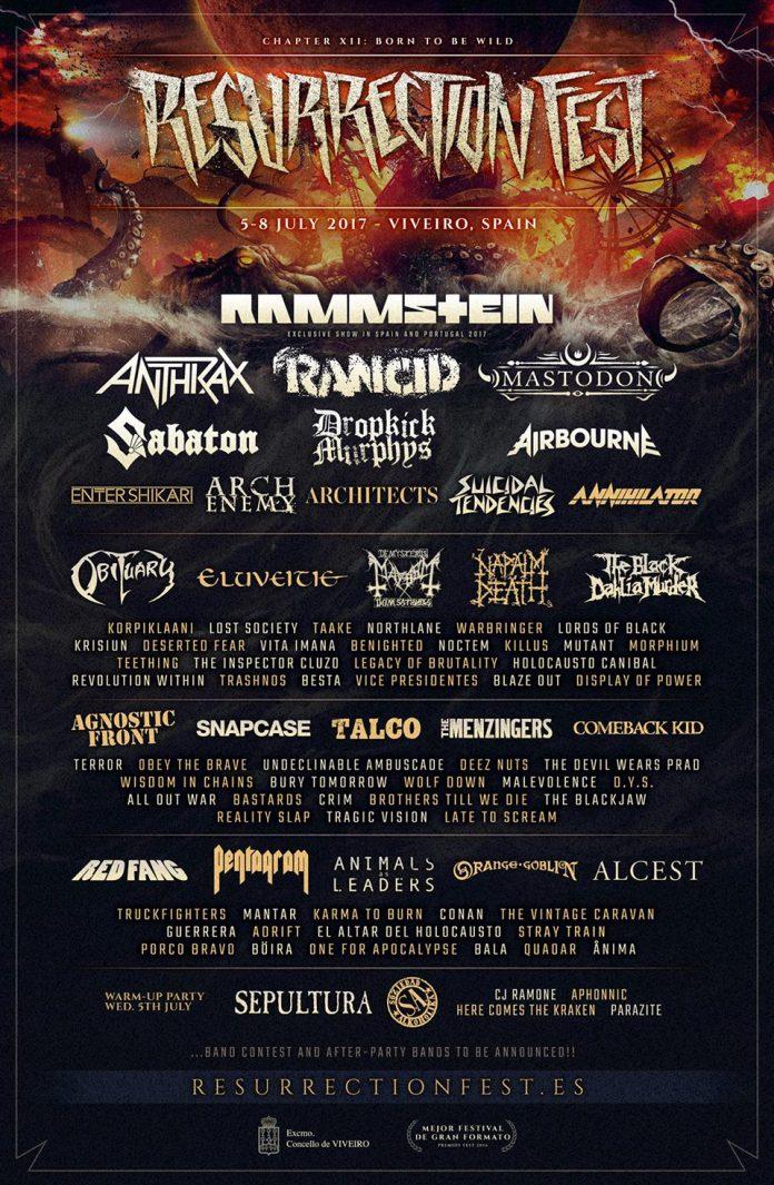 Anthrax, Sepultura y Talco entre las nuevas confirmaciones del Resurrection Fest 2017