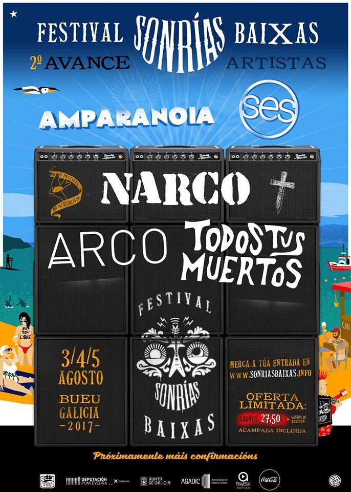 Narco entre las nuevas confirmaciones del Sonrías Baixas 2017