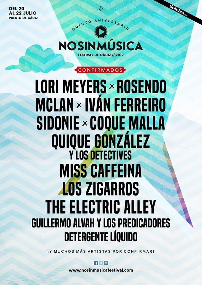 Rosendo y Los Zigarros entre los confirmados para el Festival No Sin Música de Cádiz