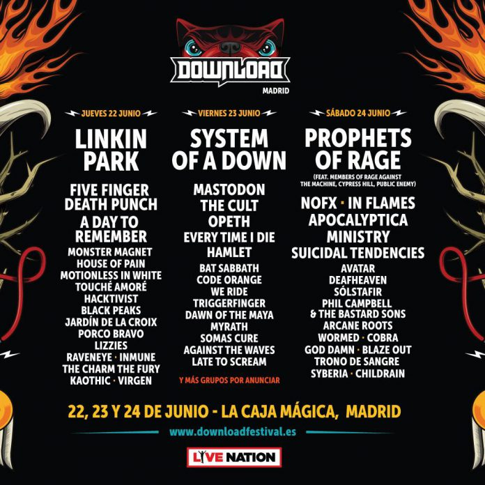 Nuevas confirmaciones y cartel completo del Download Festival Madrid 2017