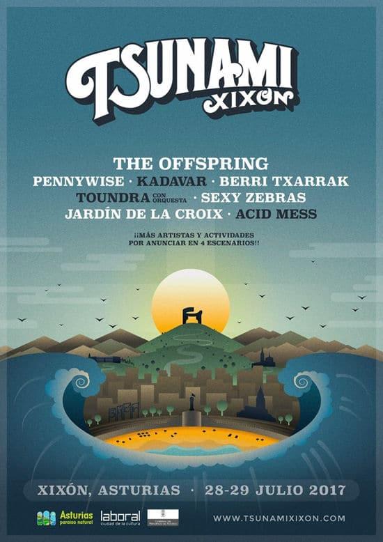 The Offspring y Pennywise entre las bandas que actuarán en el Tsunami Xixon