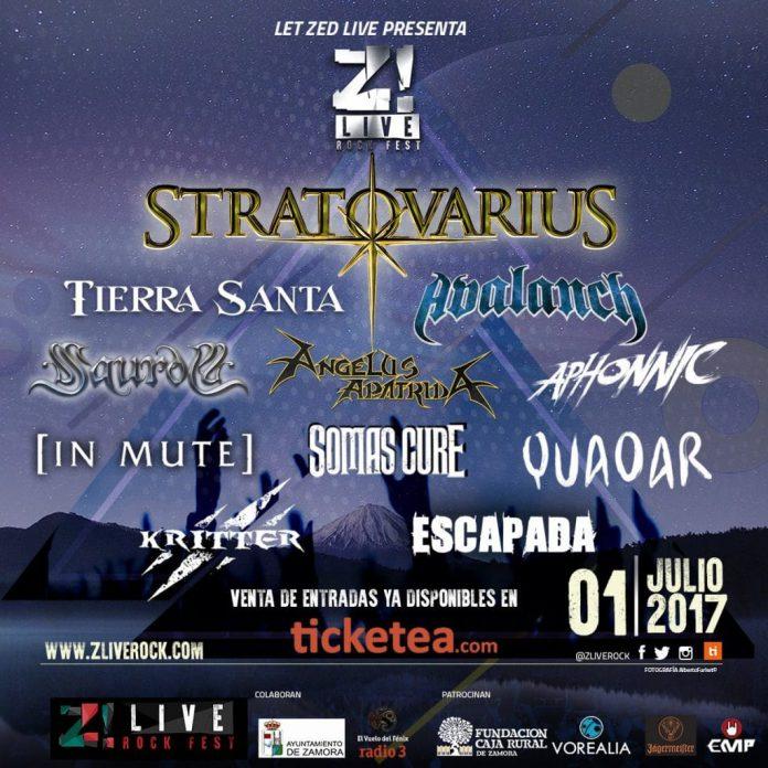 Stratovarius encabeza el cartel del festival ZLive Rock de Zamora