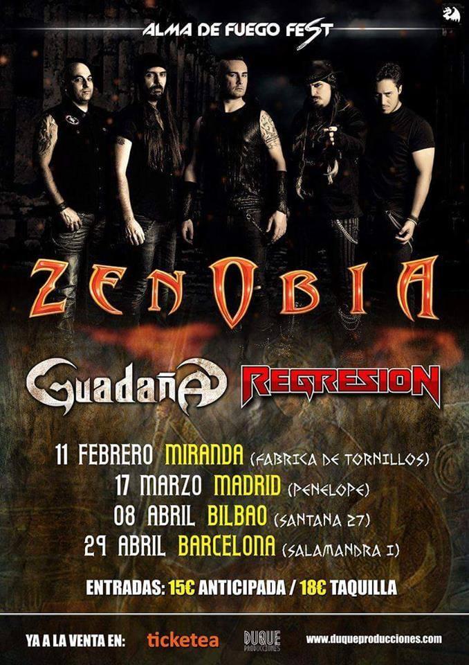 Zenobia, Guadaña y Regresión de gira juntos en el Alma de Fuego Fest