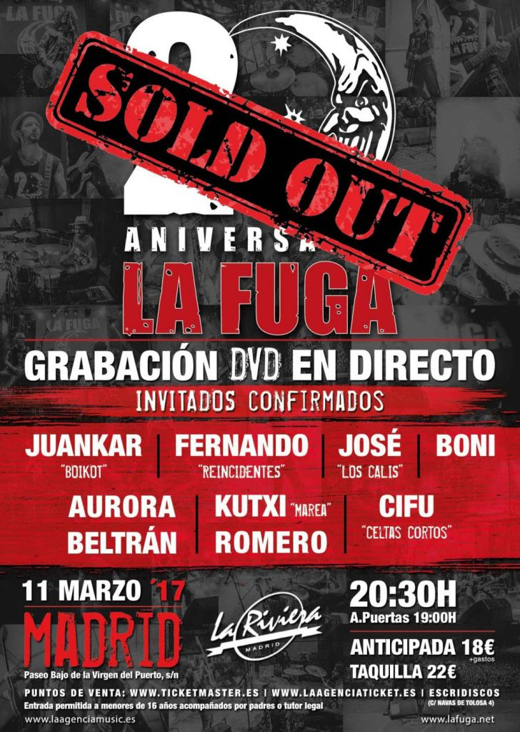 """La Fuga cuelga el cartel de """"No hay entradas"""" para su próximo concierto en La Riviera"""