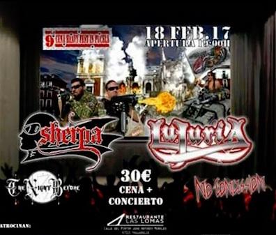Cena Heavy Fest In Pucela con Lujuria y Sherpa el 18 de febrero