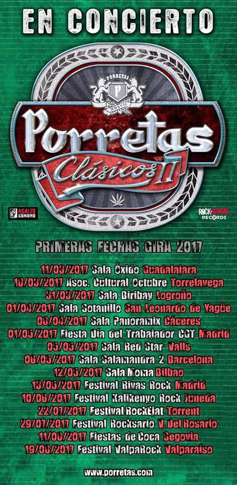 Primeras fechas de Porretas presentando su próximo disco