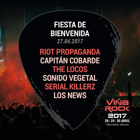 Capitán Cobarde, The Locos y Riot Propaganda en la presentación del Viña Rock