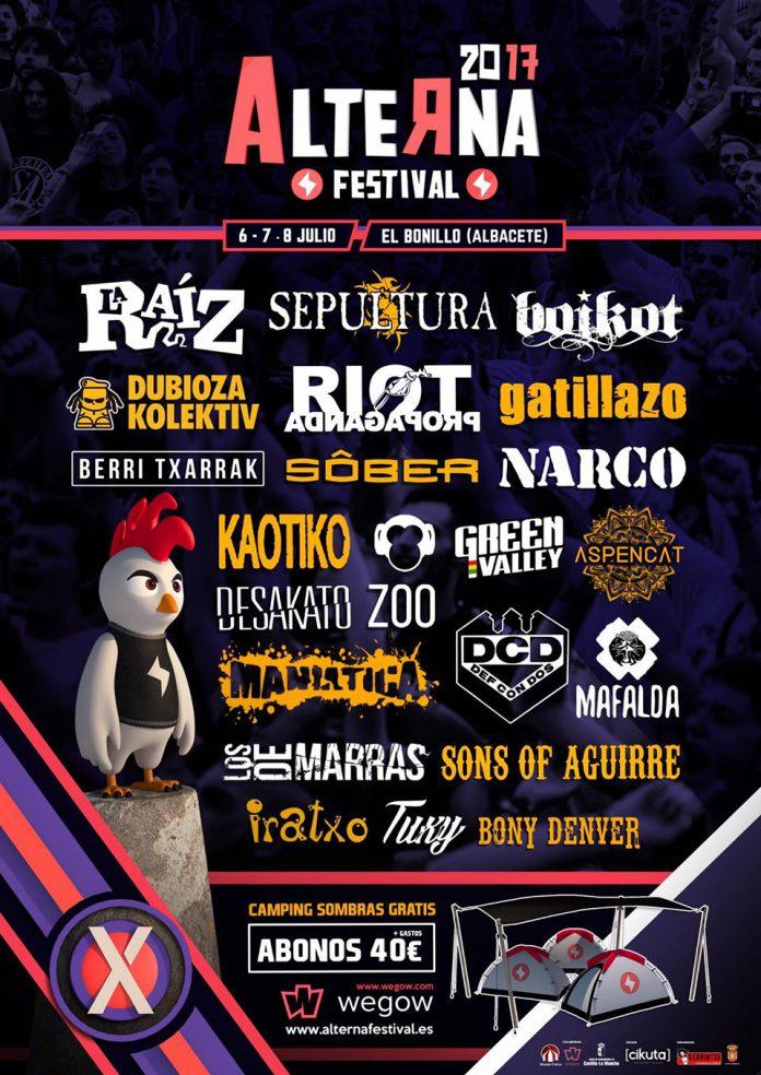 Def Con Dos, Kaótiko, Iratxo y Los De Marras entre las últimas confirmaciones del Alterna Festival