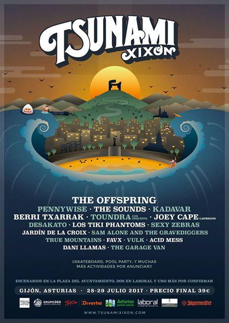 Nuevas bandas se suman al cartel del festival Tsunami Xixón 2017