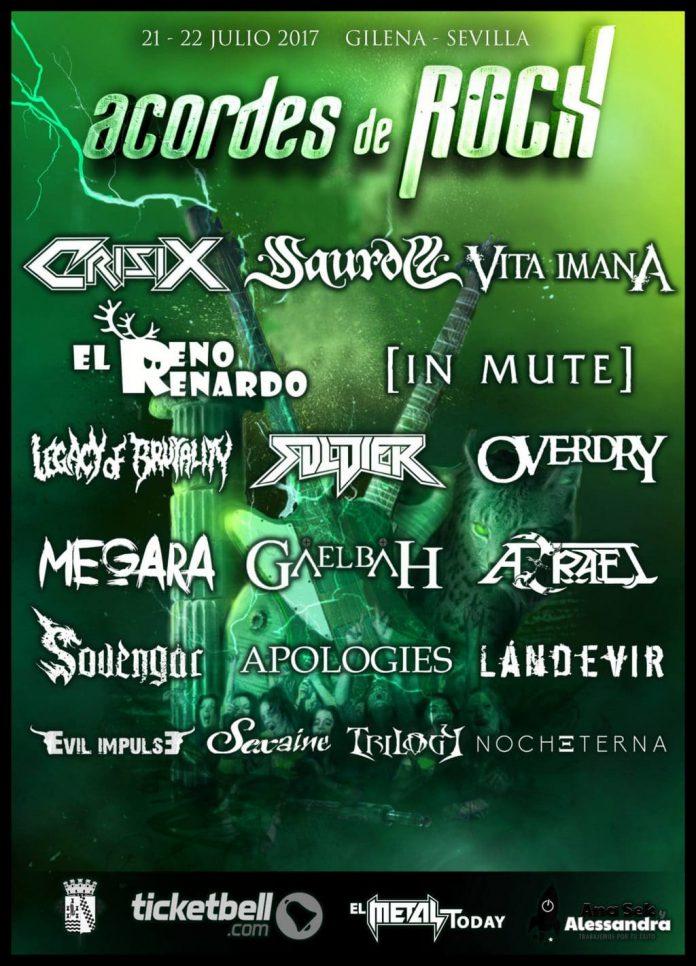Cartel actualizado del festival Acordes de Rock de Gilena (Sevilla)