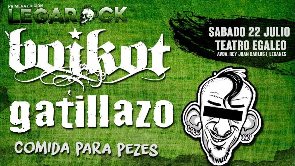 Boikot y Gatillazo en la primera edición del Festival Legarock en Leganés