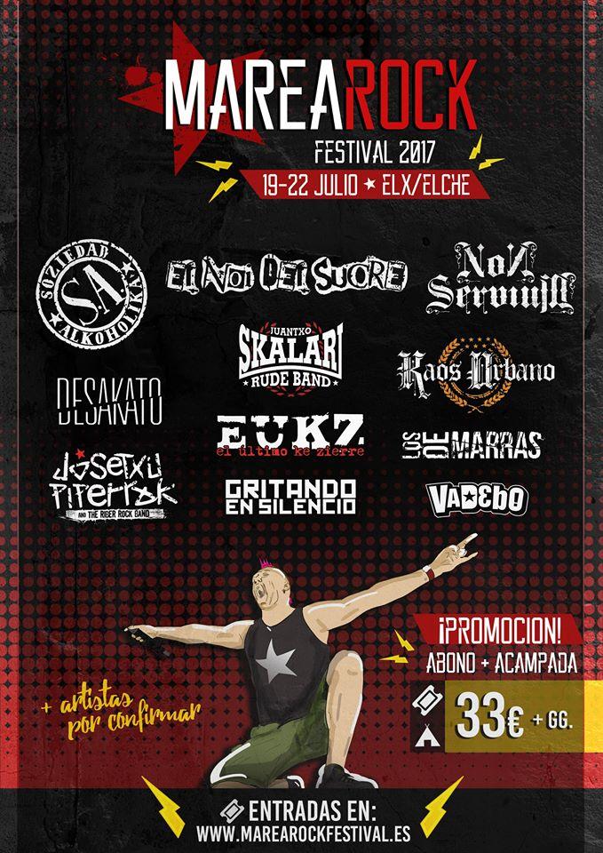 Gritando En Silencio y El Noi Del Sucre entre las nuevas confirmaciones para el Marearock Festival 2017