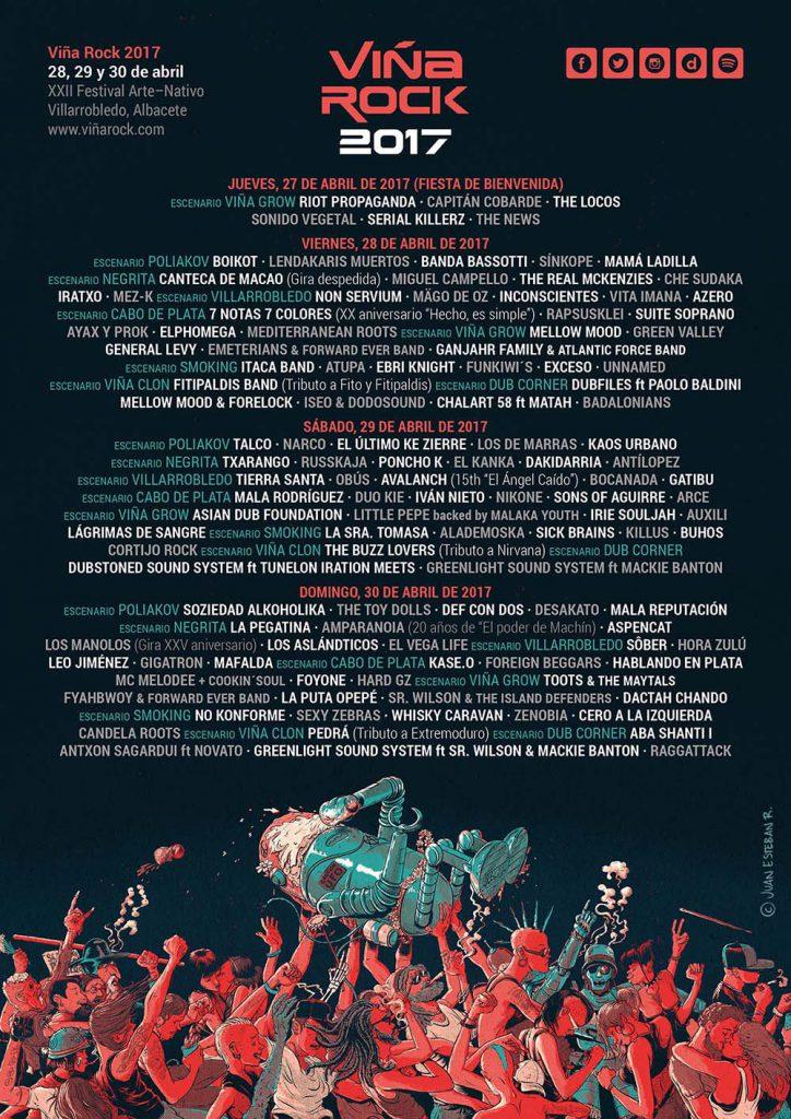 El Festival Viña Rock anuncia la distribución de grupos por días