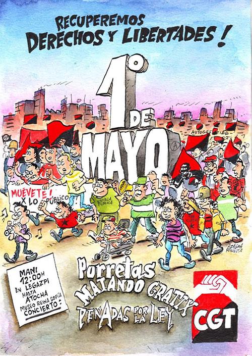 Porretas, Matando Gratix y Penadas por la Ley en los concierto del día 1 de mayo en Madrid