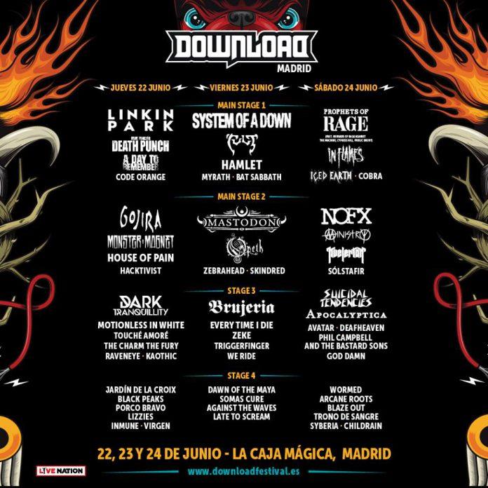 Cartel definitivo y distribución por días del Download Festival Madrid