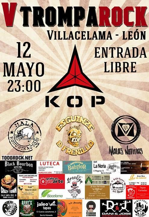KOP encabezará la V edición del Festival Trompa Rock de Villacelama (León)