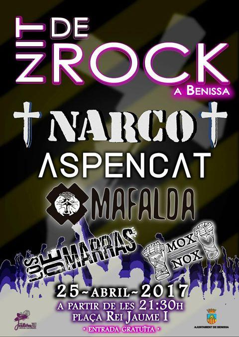 Cartel del festival Nit de Rock en Benissa, Alicante