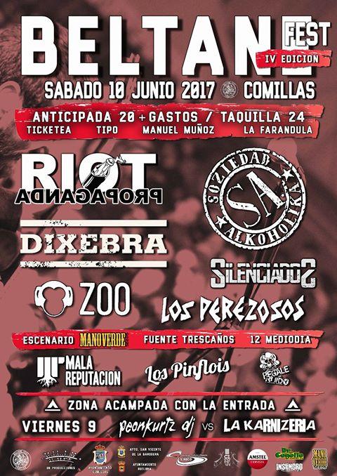 Cartel definitivo de la cuarta edición del Beltane Fest 2017 de Comillas (Cantabria)