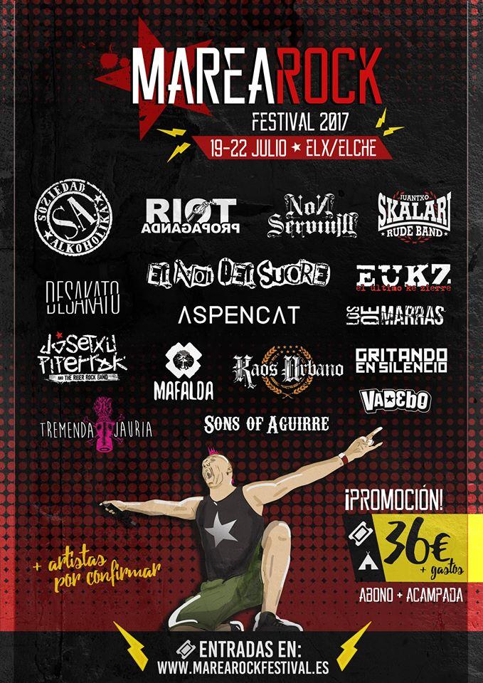 Aspencat y Riot Propaganda entre las nuevas confirmaciones del Marearock Festival 2017