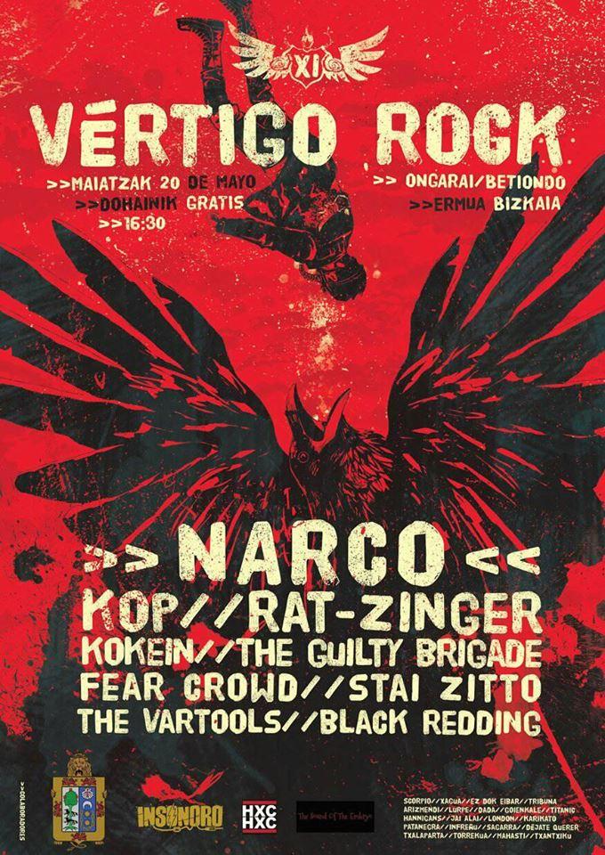 Narco encabeza el XI Vértigo Rock Festival de Ermua, Bizkaia