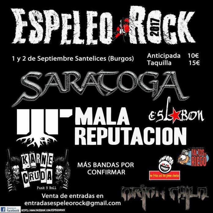 Saratoga y Mala Reputación entre las bandas confirmadas para el Espeleo Rock de Santelices (Burgos)
