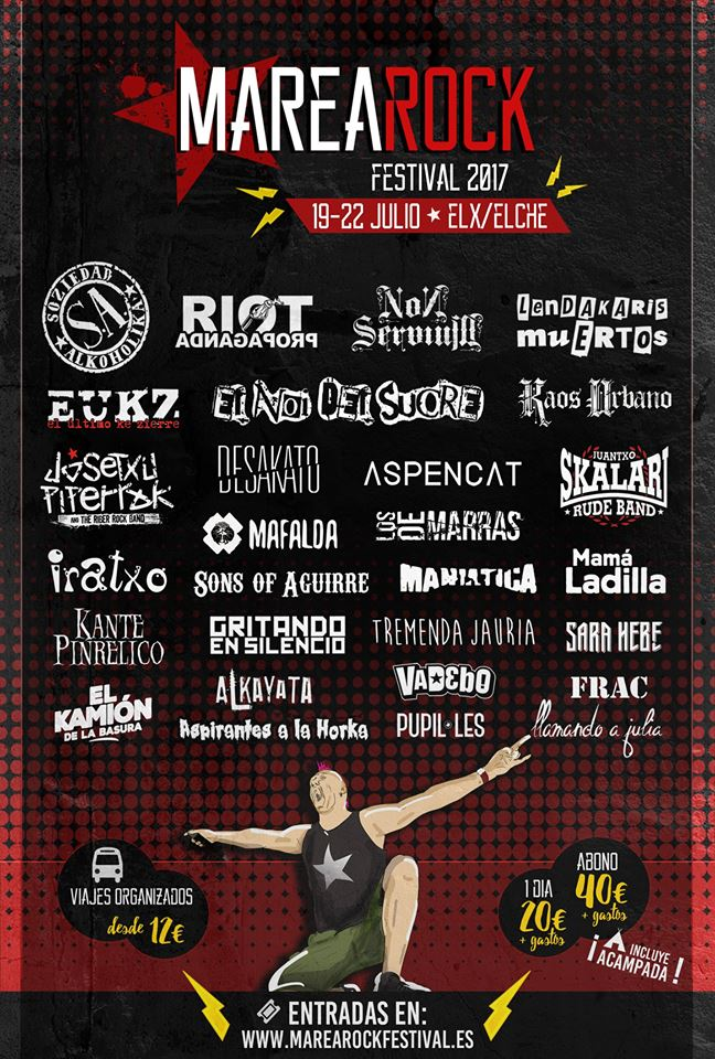 A falta de alguna confirmación, así va quedando el cartel del Marearock Festival 2017