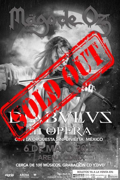 Mägo de Oz vende las 18.000 localidades para su concierto en el Arena de México DF