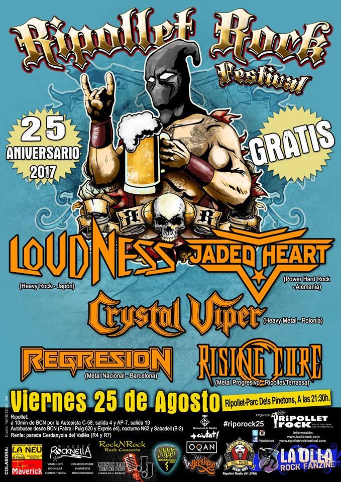 Los japoneses Loudness encabezarán la próxima edición del Ripollet Rock Festival