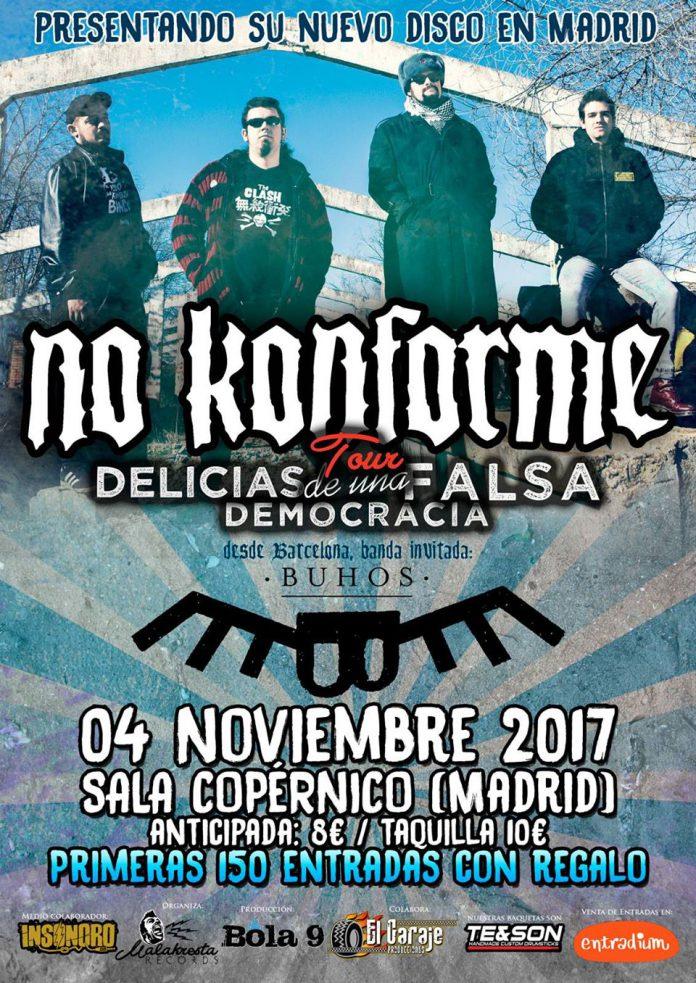 No Konforme anuncian que la presentación de su nuevo disco en Madrid será el 4 de noviembre