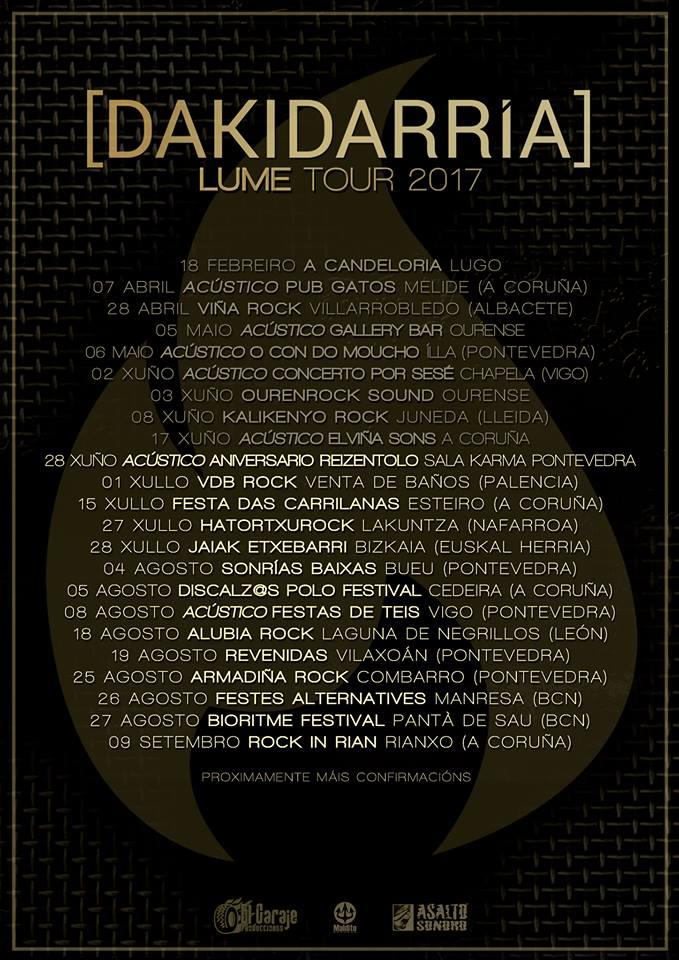 Próximas fechas de Dakidarría presentando su disco