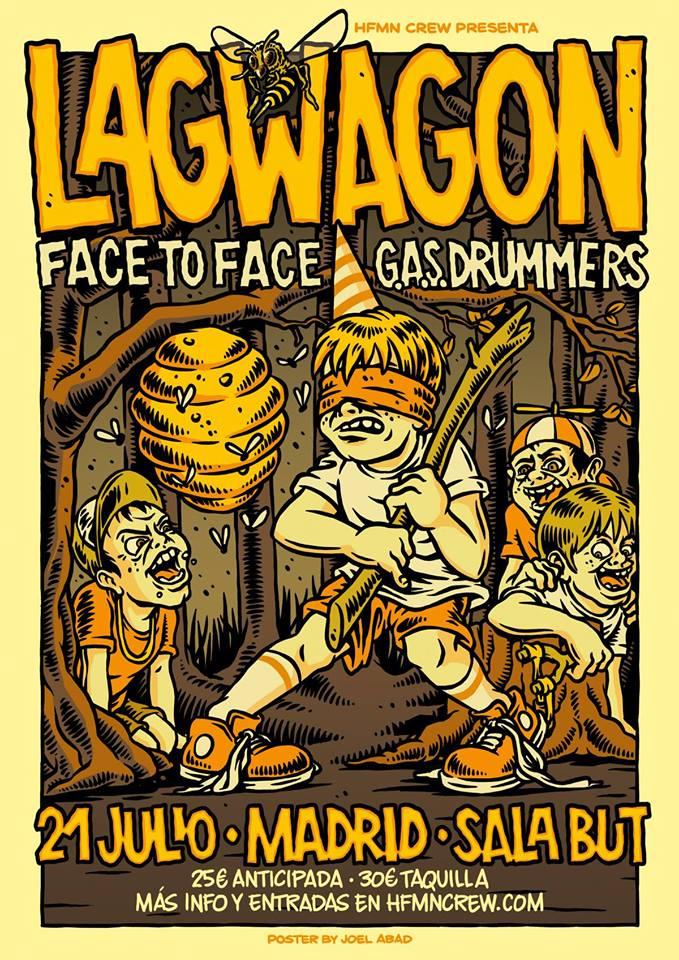 Lagwagon actuarán en Madrid el próximo 21 de julio