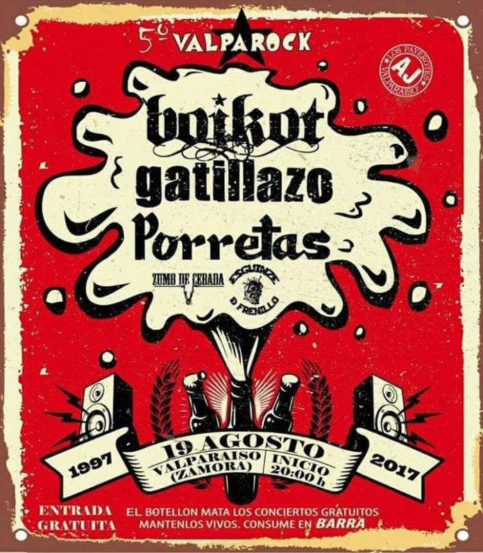 Boikot, Gatillazo y Porretas encabezan la V edición del Festival Valparock de Valparaiso, Zamora
