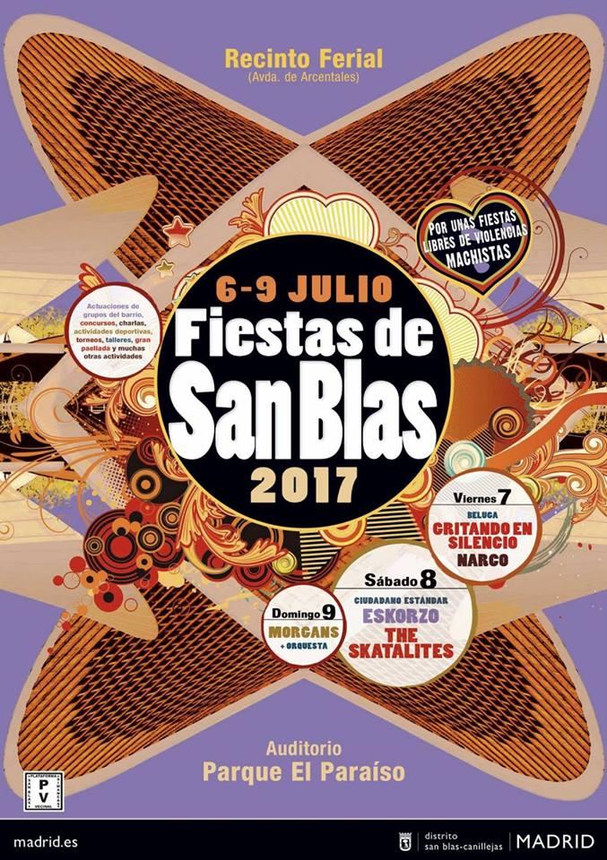 Calendario de conciertos de las fiestas de San Blas 2017, Madrid