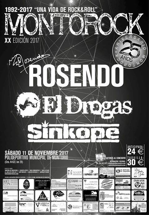 Cartel de la XX edición del Festival Montorock de Montorio, Burgos