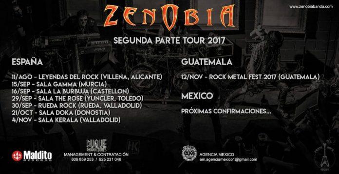 Zenobia anuncia las fechas de la segunda parte de su gira de