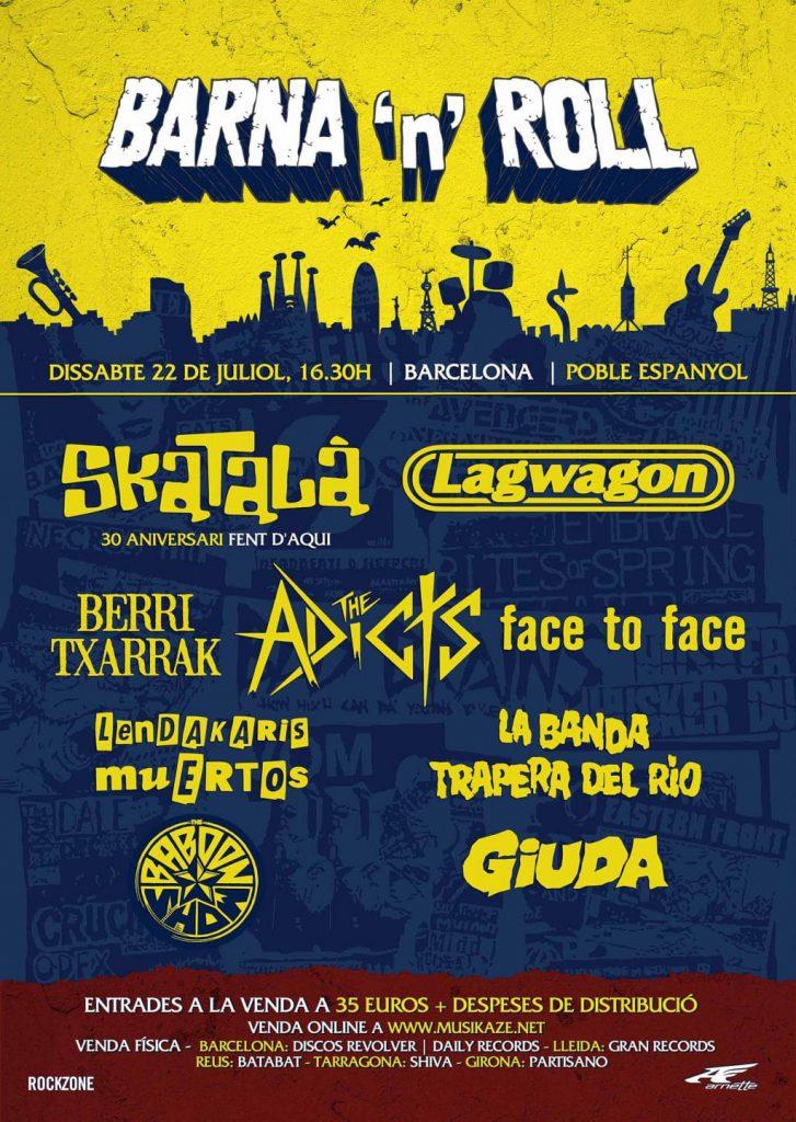 Cartel definitivo del Festival Barna'n'Roll 2017 de Barcelona