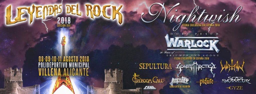 Nightwish y Warlock entre las primeras confirmaciones para el Leyendas del Rock 2018