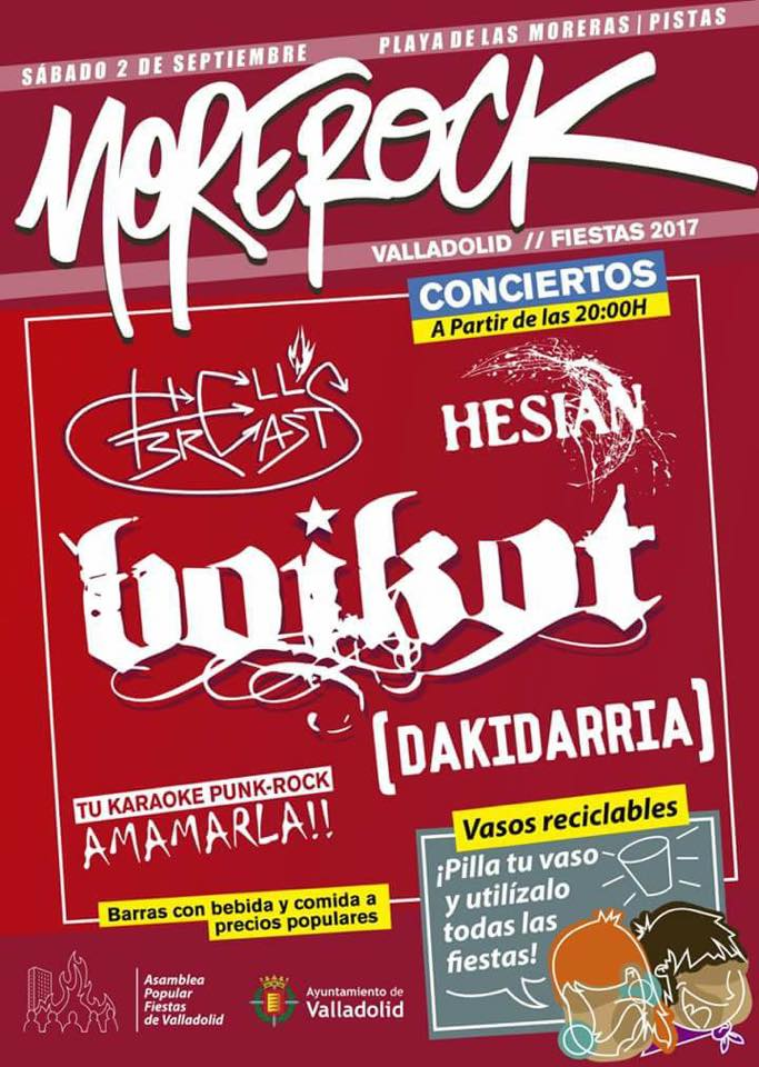 Boikot encabezan la primera edición del Festival Morerock de Valladolid