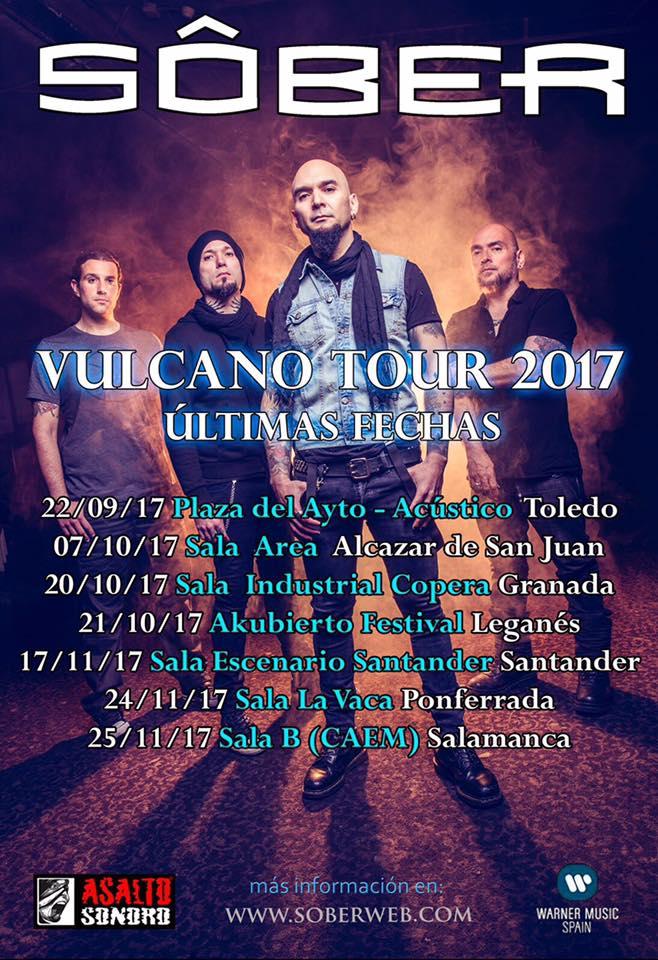 Sôber anuncia las últimas fechas de su gira