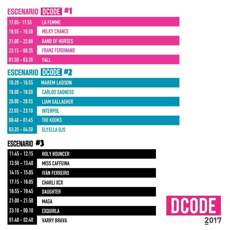 Horarios definitivos del Dcode Festival 2017 de Madrid