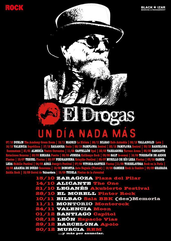 """El Drogas anuncia nuevas fechas que se suman a su gira """"Un Día Nada Más"""""""