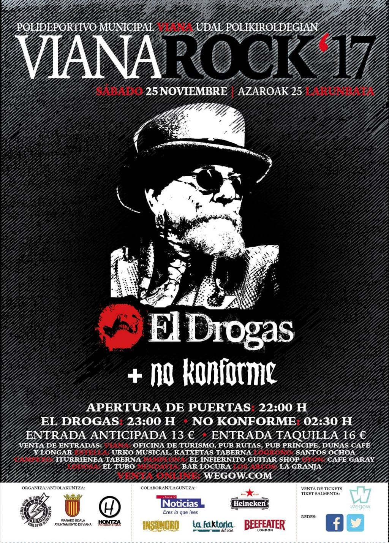 El Drogas y No Konforme en la próxima edición del festival Vianarock
